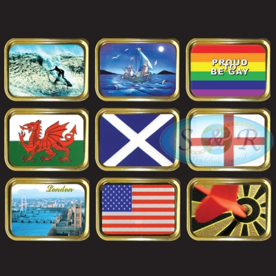 1oz & 2oz Gold Gift Tins Flags London Beatles Sport