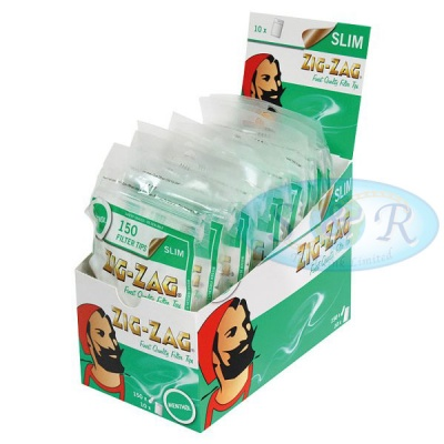 Zig-Zag Slim Menthol Filter Tips